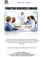 Brochure Formalux Ressources Humaines