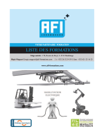 AFI - Plaquette formations