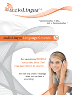 audioLingua Broschuere  English