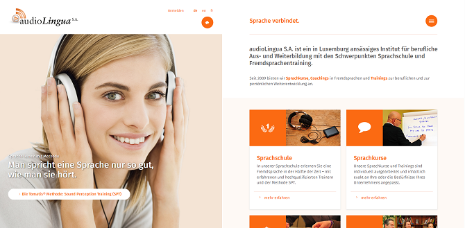 audioLingua - Our new website
