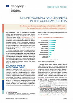 Cedefop-Online working and learning in the coronavirus era