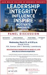 Conference & Panel Discussion - Leading with Integrity