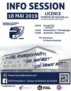 Info Session Licence Sciences de Gestion