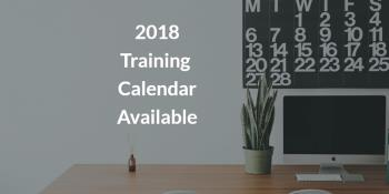 QRP 2018 Training Calendar Available