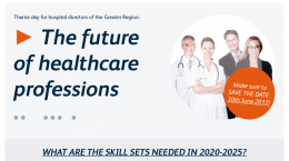 The future of healthcare professions