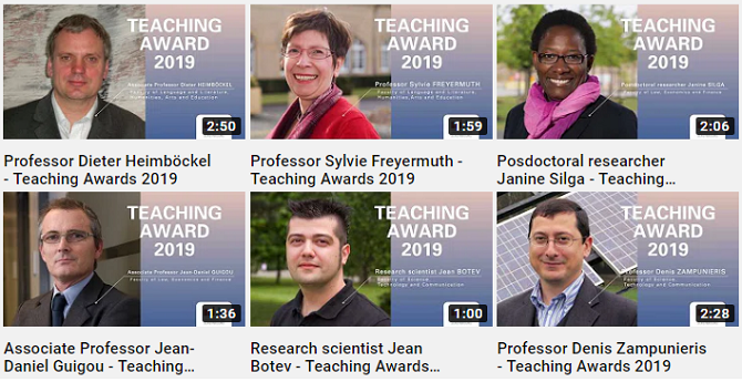 UNI Teaching Award 2019